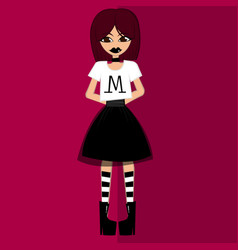 Girl in theme gothic vector