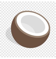 Half of coconut isometric icon vector