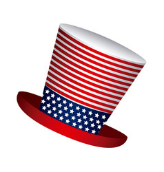hat independence day icon vector image vector image