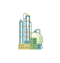 Industrial chemical plant isolated on white vector
