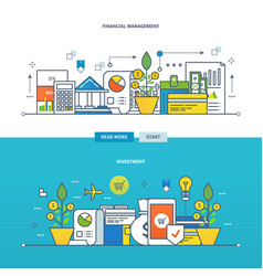 investments the financial management vector image vector image