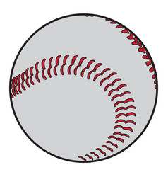 isolated baseball ball vector image vector image