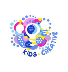 Kids creative logo design template labels and vector