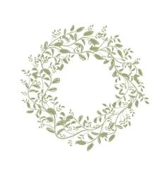 Leaf wreath sketch for your design vector image