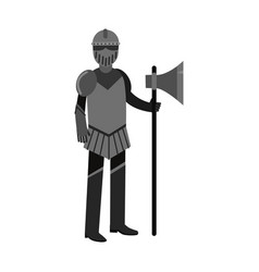 medieval knight character full body armor suit vector image