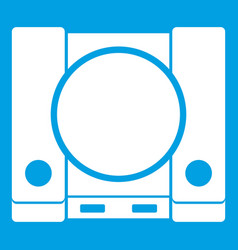 Playstation icon white vector
