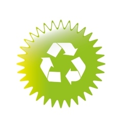 recycle emblem icon image vector image vector image