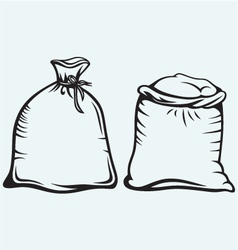 Sacks of grain vector image