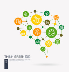 Think green environmental ecology recycle and vector