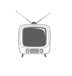 tv icon isolated on white background vector image