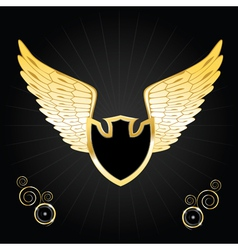 vintage golden wings vector image