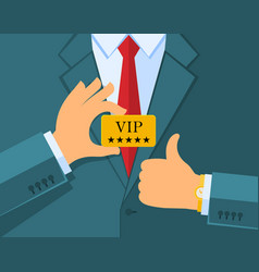 Vip concept business man vector