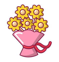 Wedding flower bucket icon cartoon style vector