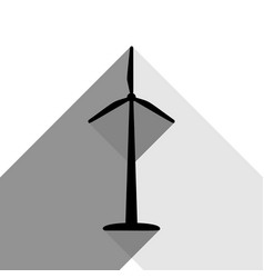 wind turbine logo or sign black icon with vector image vector image