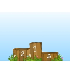 Winner sports wooden podium vector image vector image