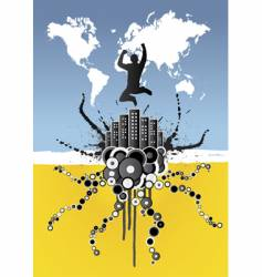 world business celebration vector image