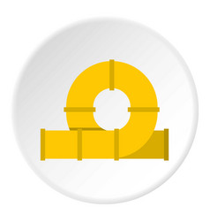 yellow playground slider icon circle vector image vector image