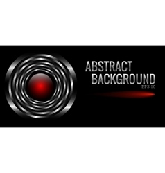 Metallic rings background vector image
