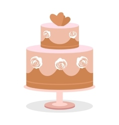 Wedding cake in flat design vector