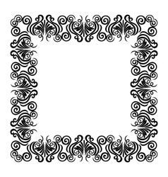 frame black vector image
