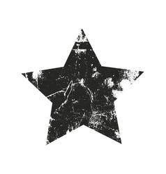 Grunge star silhouette vector