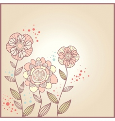 Cute card with flowers vector