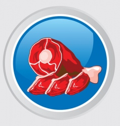 meat icon vector image