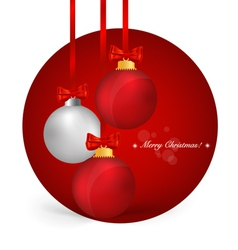 Christmas background christmas ball with ribbon vector