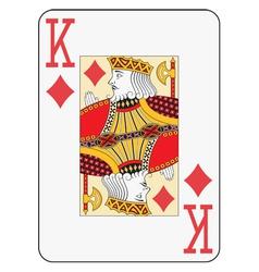Jumbo index king of diamonds vector image