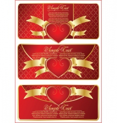 set with valentines banner vector