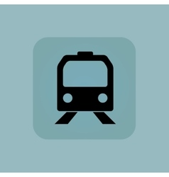 Pale blue train icon vector