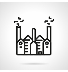 Manufacturing building line icon vector