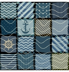 quilting design in nautical style vector image