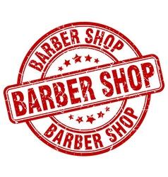 Barber shop red grunge round vintage rubber stamp vector