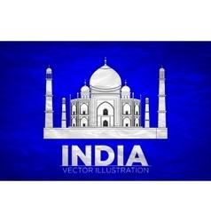 Taj mahal an ancient palace vector