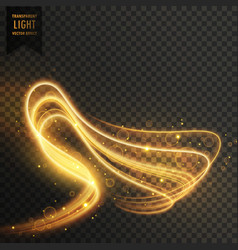 Abstract transparent golden light effect vector