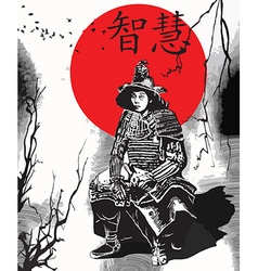 An hand drawn from Japan Culture - Samurai Shogun vector image