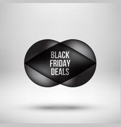 Black friday deals bubble badge vector