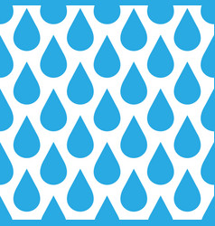 blue rain drop seamless pattern background water vector image
