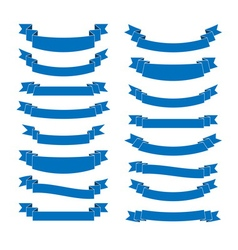 Blue ribbon banners set Beautiful blank for vector image