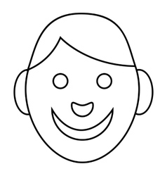 Boy icon outline style vector image