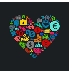 Business heart3 vector image