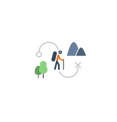 Countryside sports activities camping and hiking vector