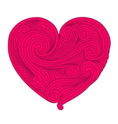 Decorative pink heart vector image