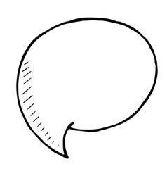 doodle Speech Bubble hand drawn vector image vector image