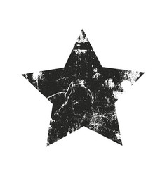 grunge star silhouette vector image vector image