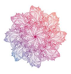 Mandala floral flower oriental circle vector