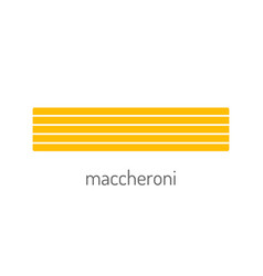 pasta colored flat icon of food object for vector image