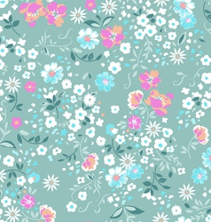 Pastel pink and blue ditsy background vector image