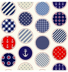 Patchwork polka dot vector